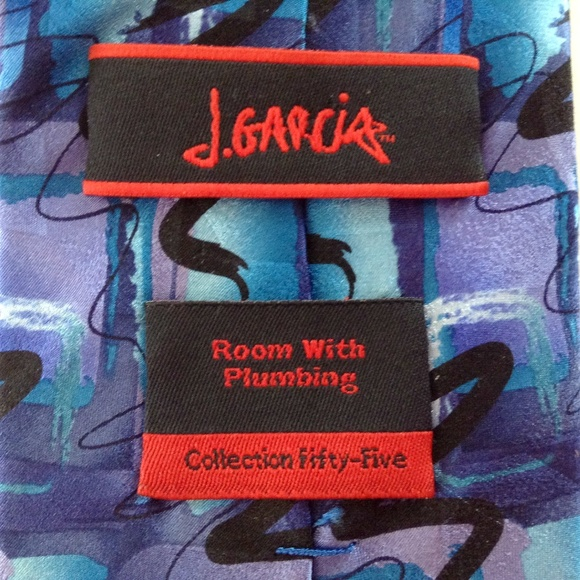 Mens J Jerry Garcia Neck Tie Collection Fifty-five Room with Plumbing